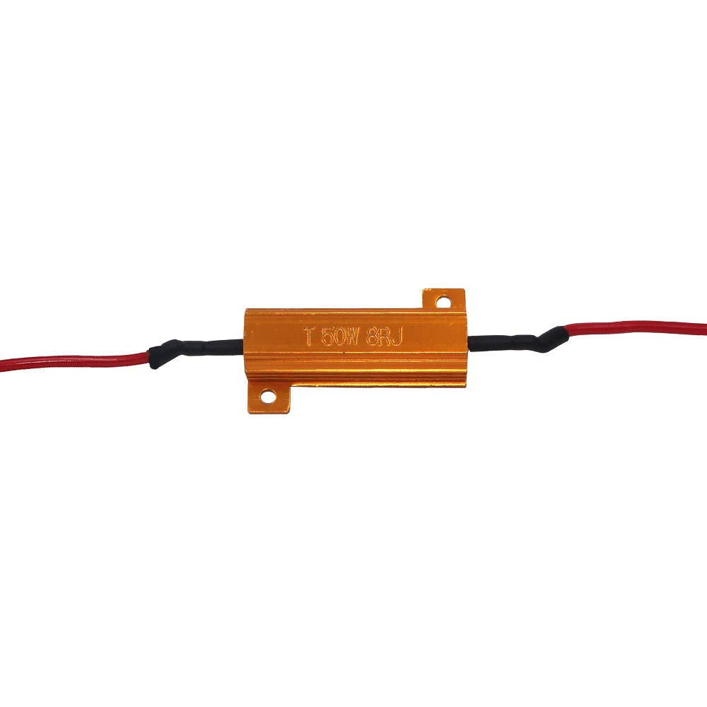 Fix LED Bulb Fast Hyper Flash Turn Signal Blink Error Code with 8pcs Quick Splice wire Clip Yolu 4Pcs 50W 6ohm Load Resistors