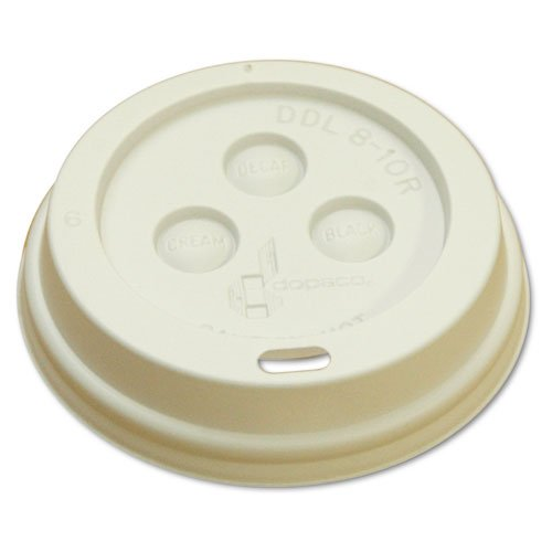 Boardwalk Hot Cup Dome Lids, 8oz, White - Includes 10 sleeves of 100 lids each.