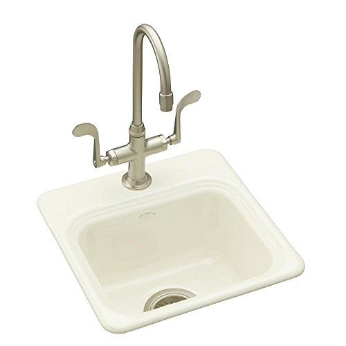 KOHLER K-6579-1-96 Northland Self-Rimming Entertainment Sink, Biscuit Self Rimming Bar Sink