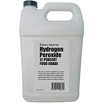 Blubonic Food Grade Hydrogen Peroxide 12% (Derived from 35%) Stabilizer Free, Pure Oxygen and Water H2O2 (Gallon)