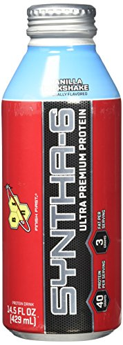 BSN Syntha-6 Ready to Drink Supplement, Vanilla, 12 Count