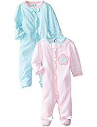 Baby Girls' 2 Pack Zip Front Sleep 'n Play, Birdie, -3...