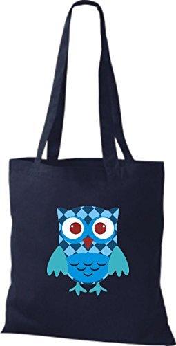 Azul Mujer De Algodón Shirtinstyle Tela Bolso Para x8OwYR7q