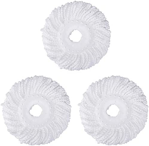 Replacement Mop Microfiber Head Round White 3 Pack product image
