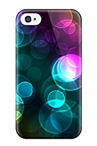 High Quality Hxy Colorful Bokeh Skin Case Cover Specially Designed For Iphone - 4/4s