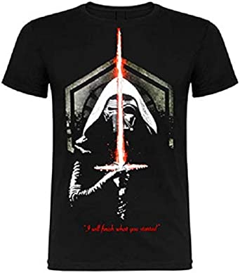 Camiseta Star Wars - Kylo REN & Darth Vader (L): Amazon.es: Ropa y accesorios