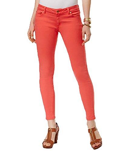 Michael Michael Kors Woman Classic Pant - Michael Kors Izzy Cropped Skinny Jeans (Sangria, 8)