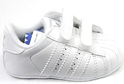 ebcf08691ddd3 Image Unavailable. Image not available for. Colour: adidas Superstar 2 CMF  Crib G12024 White Leather Velcro Cute Baby ...