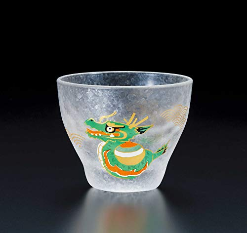 ADERIA Made in Japan Quality Auspicious Chinese Zodiac Animal Sign Dragon Shot Glass 90ml Chinese Zodiac Animal Signs