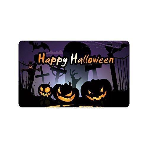 Pingshoes Custom Personalized Halloween Decoration - Happy Halloween Pumpkins Doormats Durable Hallowen Doormats Mats ES Large Floor Mat Rug Indoor/Outdoors