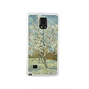 CaseCityLiu - The Pink Peach Tree Vincent Willem van Gogh Oil Painting Design White Bumper Plastic+TPU Case Cover for Samsung Galaxy Note4 wangjiang maoyi
