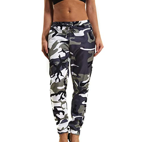 bf2811d39ae JOFOW Women s Leggings Camouflage Mid Waist Camo Flare Trousers ...