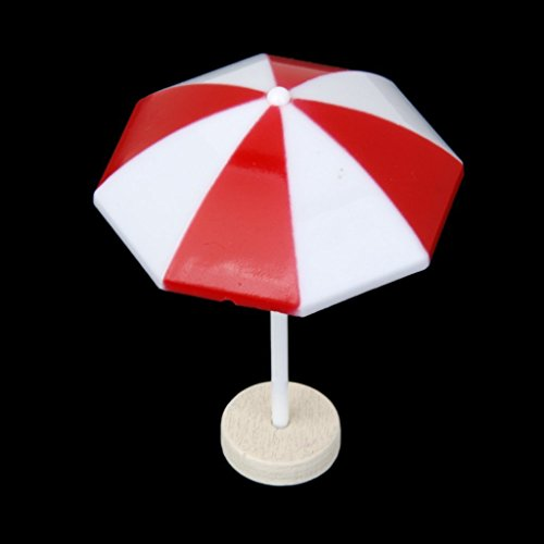 Tinksky Miniature Umbrella Landscape Dollhouse