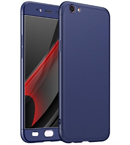 Finaux 360 Degree iPAKY Style Front Back Cover Case for Oppo A37 Blue