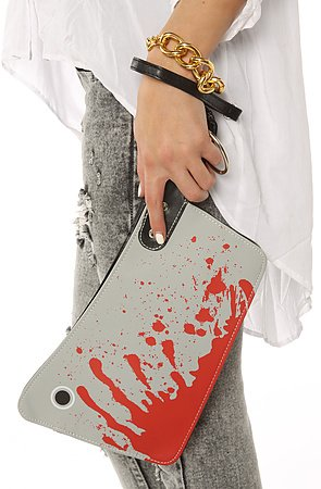 bloody cleaver clutch hatchet knife kreepsville 666 halloween horror clutch purse handbag - Halloween Handbag