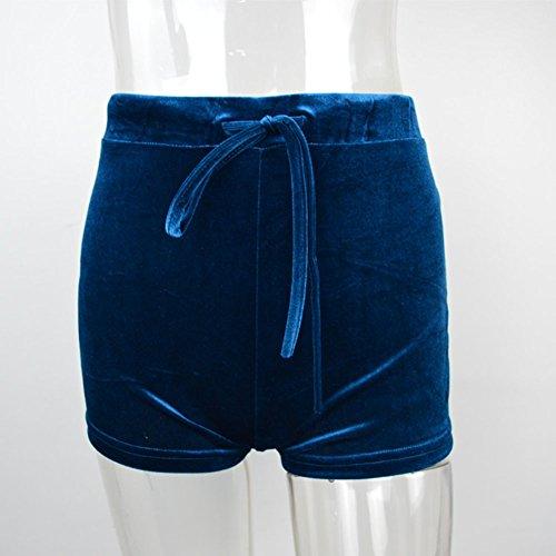 Pantaloncini Pantaloncini Donna Pantaloncini Blu2 Yoga Sport Casual Spiaggia Shorts Pantaloncini Corto YqSwrYn