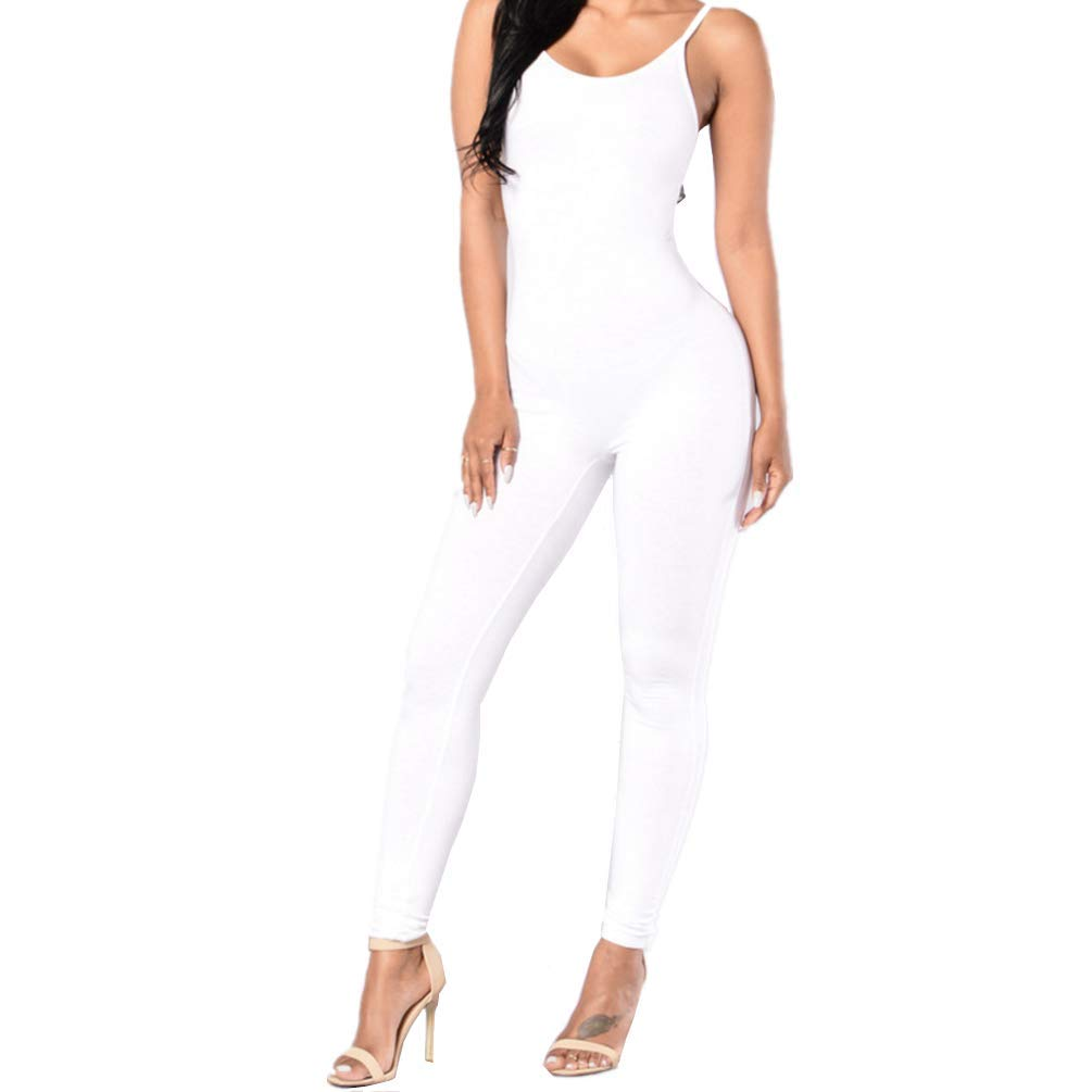 813b314641 Amazon.com  Daisland Women Jumpsuits Rompers Bodycon Outfit Sleeveless  Clubwear Playsuit Long Pants Trousers  Clothing