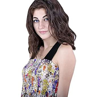 Escale Multi Color Chiffon Off Shoulder Blouse For Women
