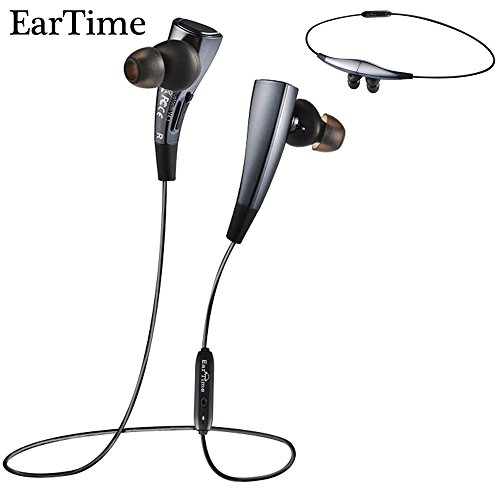 EarTime G11 Bluetooth 4.1 Stereo Headphones Wireless Lightweight Sports Headset In-Ear Volume Control Noise Cancelling Earbuds for iPhone6,iphone7,SE,iPad,LG,Samsung and Android Smartphones