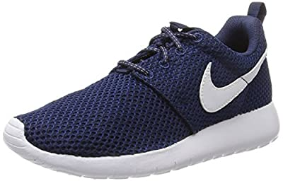 NIKE Kids Roshe One (GS) Midnight/Navy/White/Gym/Blue Running Shoe 7 Kids US