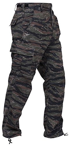 Bellawjace Clothing Tiger Stripe Camouflage Military BDU Cargo Bottoms Fatigue Camo Pants