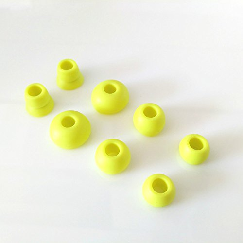 8pcs Replacement Silicone Eartips Earbuds Eargels for Beats by dr dre Powerbeats 2 Wireless Stereo Earphones (Yellow) (Tip Yellow)