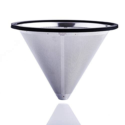 - Pour Over Coffee Filter by Bloom Sync, Metal Coffee Filter, Coffee Drip Cone, Cleaning Brush and eBook on Coffee Brewing