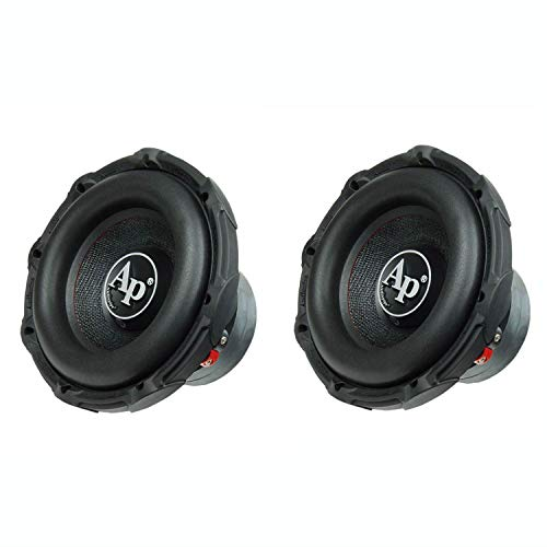 """AudioPipe TXX-BD2-10 High Power 1200W 10"""" 4 Ohm DVC Car Subwoofer, (2 Pack)"""