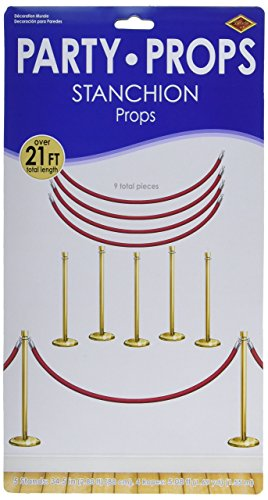 Beistle 52301 Printed Stanchion Party Props, 34.5