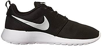 Nike Womens Roshe One Running Shoe Blackmetallic Platinumwhite (9) 6