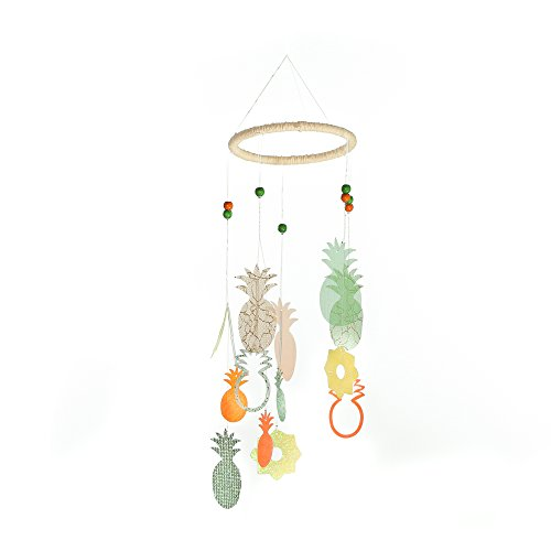 Roser Life Hanging Mobile Art⎮Baby Mobile⎮Sky Mobile⎮Eclectic Decor⎮Handmade Nursery Crib Boy Girl Kids Infant Adult Ceiling Home Outdoor Garden Neon Pineapple Decorations (Pack of 1) from Roser Life
