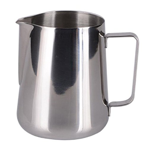 Frothing Pitcher Mikey Store 12 Oz Stainless Steel Milk Pot Of Milk Cup Milk (Latte Steamer Pitcher compare prices)