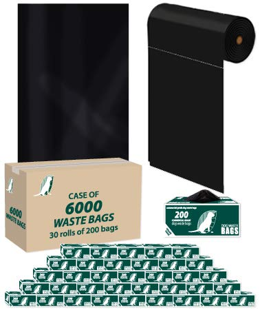 Dog Waste Roll Bags - Case of 6000 - D001-30 by ZW USA Inc