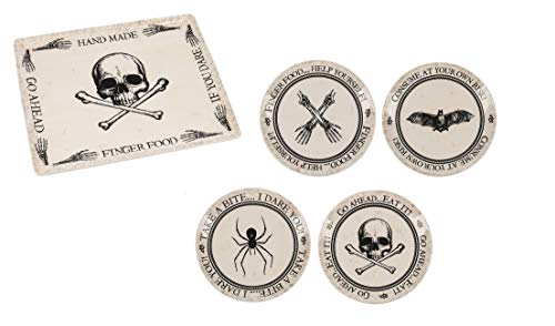 Ganz Halloween Pick Your Poison - 4 x Appetizer plates and Serving Platters -