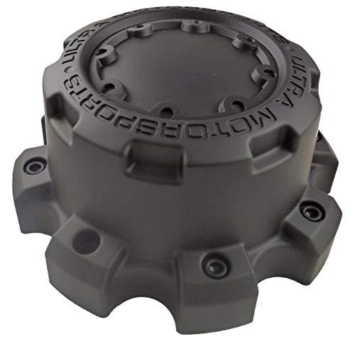 9880 Matte - Ultra Motorsports 8 Lug Matte Black Wheel Center Cap Qty ONE Pn: 89-9880B