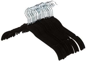 AmazonBasics Velvet Shirt/Dress Hangers - 30-Pack, Black