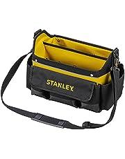 Stanley STSTST1-70718 Open gereedschapstas (31 x 20 x 26 cm, acht buitenvakken, tien binnenvakken, binnenorganizer, 20 kg laadcapaciteit, rubberen handgreep, waterafstotende polypropyleen bodem)