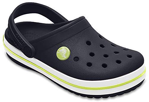 Crocs Crocband Clog, Navy/Citrus, 12 M US Little Kid (Cute Back To School Shoes For Girls)