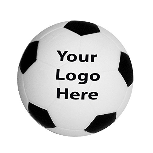 Soccer Ball Shape Stress Reliever - 100 Quantity - $1.25 Each - Promotional Product/Bulk/Branded with Your - Promotional Stress Balls