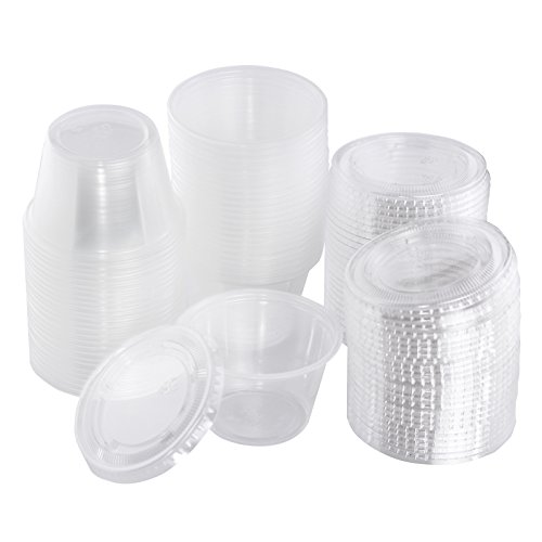 Edi 4 Ounce Clear Plastic Disposable Portion Cups Souffle