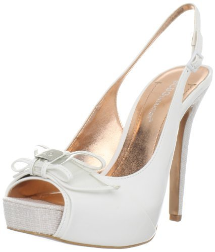 BCBGeneration Women's Bg-Angelo Platform Pump,White Patent,10 M US