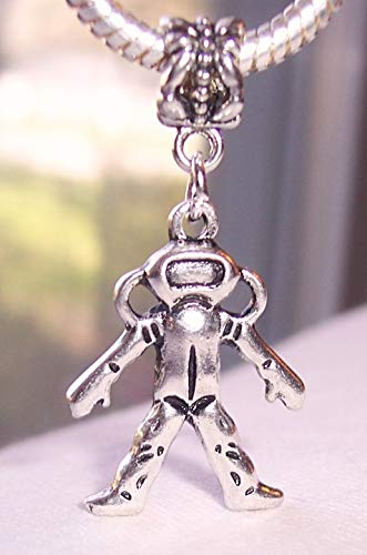 Scuba Diver Diving Nautical Beach Dangle Bead for Silver European Charm Bracelet Jewelry Making Supply by Wholesale Charms