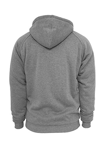 Urban Classics - D'HIVER Zip Sweat à capuche gris / ecru
