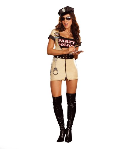 Party Police Adult Costume - - Sunglasses Boots Police