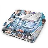 ZABABO Kpop B-T-S Blanket Flannel Throw Blankets