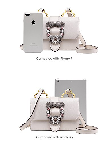 cf18447fa145 LA FESTIN Ladies Cute Bags Dazzling Jewels Shoulder Chain Purse Leather