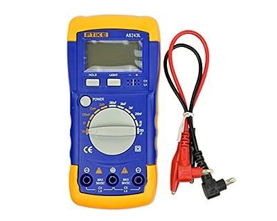 Aoshike Digital Multimeter,A6243L Digital LCD Capacitance Inductance LCR Meter Tester Multimeter 200 20H