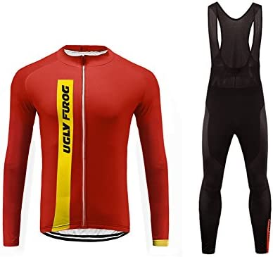 Uglyfrog 2018-2019 Nuevo De Ropa MTB Hombre Invierno Mantener Caliente Manga Larga Maillot Ciclismo Hombre Bodies +Long Bib Pant with Gel Pad Winter ...