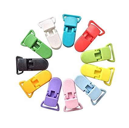 Wady Alicate Clip dentado universal para tejido juguete carpeta – Juego de 10pcs, color blanco