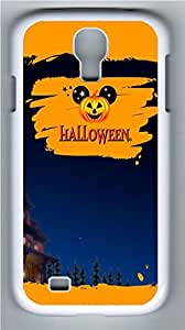 Galaxy S4 Case, Personalized Protective Hard PC White Edge Halloween 11 Case Cover for Samsung Galaxy S4